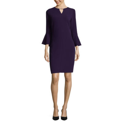 Worthington Long Sleeve Sheath Dress - Tall