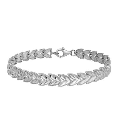 Womens Sterling Silver Link Bracelet