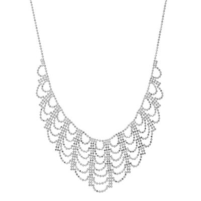 Womens Sterling Silver Statement Necklace