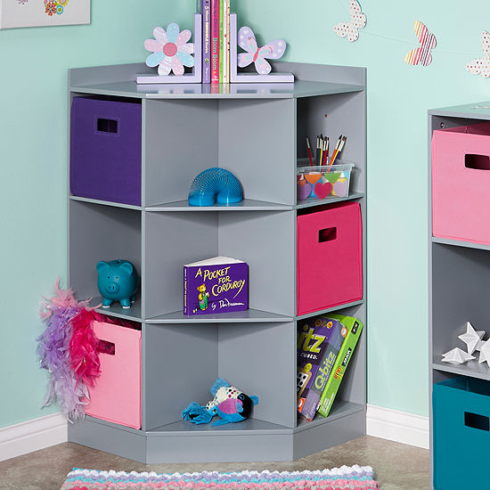 RiverRidge Kids 6-Cubby 3-Shelf Corner Cabinet