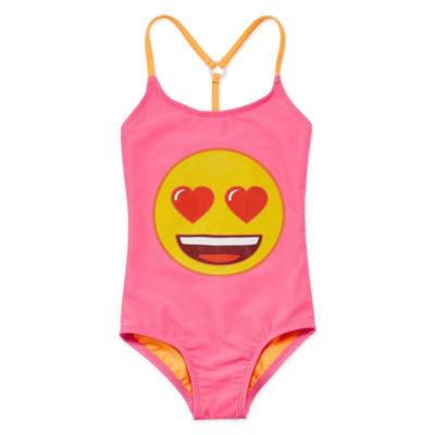 Emoji, Inc. One Piece Swimsuit Preschool Girls