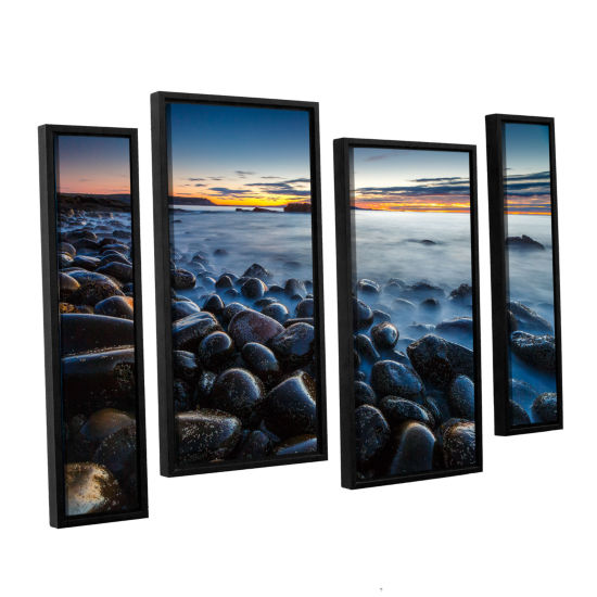 Boulder Beach 4-pc. Floater Framed Staggered Canvas Wall Art