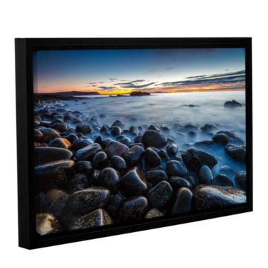 Boulder Beach Gallery Wrapped Floater-Framed Canvas Wall Art