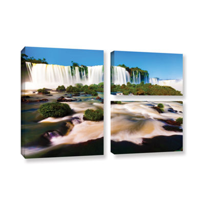 Brushtone Brazil 2 3-pc. Flag Gallery Wrapped Canvas Wall Art