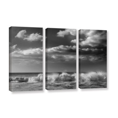 Brushtone Breaking Wave 1 3-pc. Gallery Wrapped Canvas Wall Art