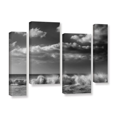 Brushtone Breaking Wave 1 4-pc. Gallery Wrapped Staggered Canvas Wall Art