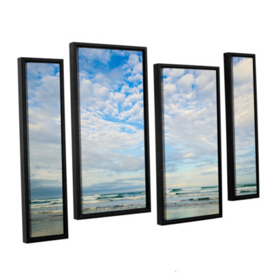 Brushtone Bright Clouds 4-pc. Floater Framed Staggered Canvas Wall Art