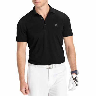 IZOD Short Sleeve Performance Golf Grid Polo