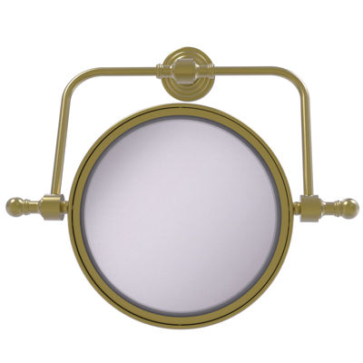 Allied Brass Retro Wave Collection Wall Mounted Swivel Make-Up Mirror 8 Inch Diameter With 2X Magnification
