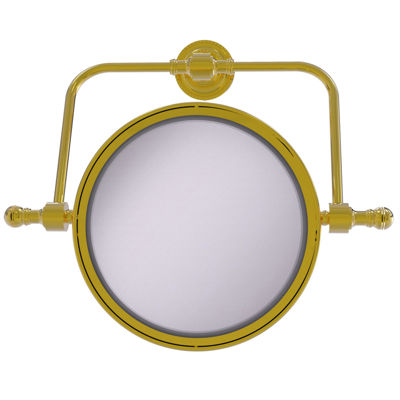 Allied Brass Retro Dot Collection Wall Mounted Swivel Make-Up Mirror 8 Inch Diameter With 5X Magnification