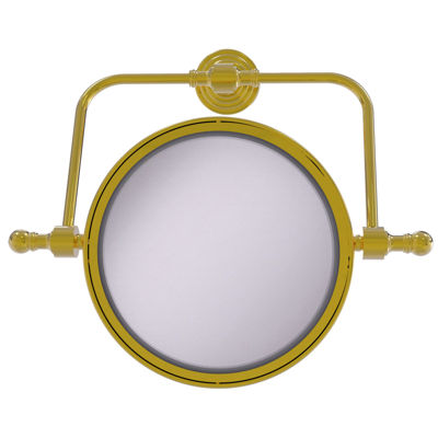 Allied Brass Retro Wave Collection Wall Mounted Swivel Make-Up Mirror 8 Inch Diameter With 4X Magnification