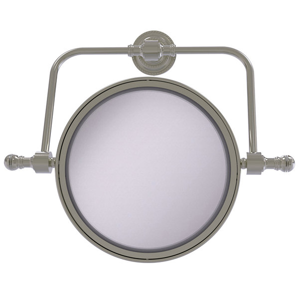 Allied Brass Retro Dot Collection Wall Mounted Swivel Make-Up Mirror 8 Inch Diameter With 4X Magnification