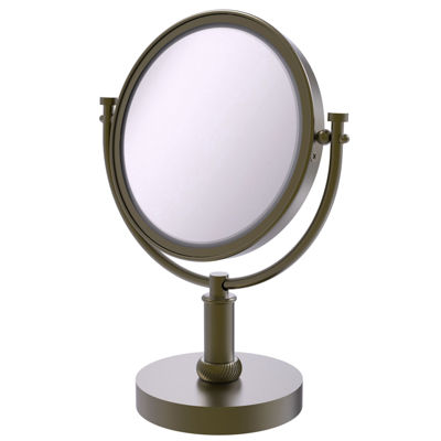 Allied Brass 8 Inch Vanity Top Make-Up Mirror 2X Magnification