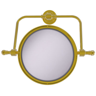 Allied Brass Retro Dot Collection Wall Mounted Swivel Make-Up Mirror 8 Inch Diameter With 2X Magnification
