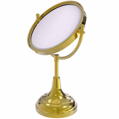 Allied Brass 8 Inch Vanity Top Make-Up Mirror 3X Magnification