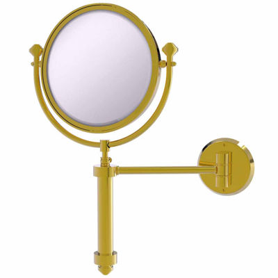 Allied Brass Southbeach Collection Wall Mounted Make-Up Mirror 8 Inch Diameter With 4X Magnification