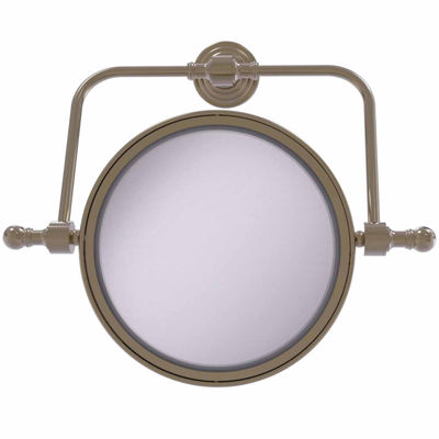 Allied Brass Retro Wave Collection Wall Mounted Swivel Make-Up Mirror 8 Inch Diameter With 5X Magnification