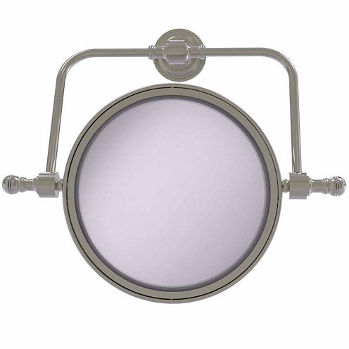 Allied Brass Retro Dot Collection Wall Mounted Swivel Make-Up Mirror 8 Inch Diameter With 3X Magnification