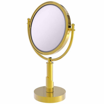 Allied Brass Soho Collection 8 Inch Vanity Top Make-Up Mirror 4X Magnification