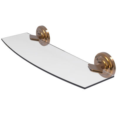Allied Brass Que New Collection 18 IN Glass Shelf