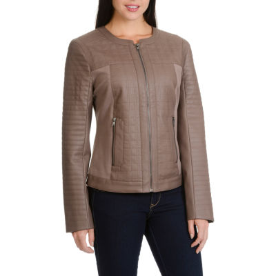 Larry Levine Pu Ponte Quilted Jacket