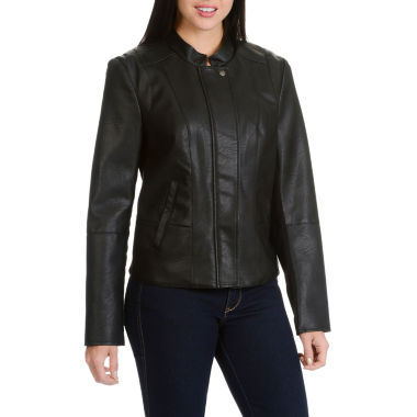 Larry Levine Pu Notch Collar Jacket