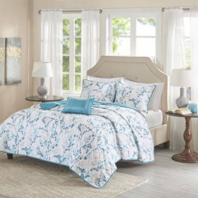 Madison Park Essentials Lesley 4-pc. Floral Coverlet Set