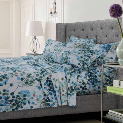 Leaf Printed Ultra-Soft Extra Deep Pocket 4-Piece Sheet Set