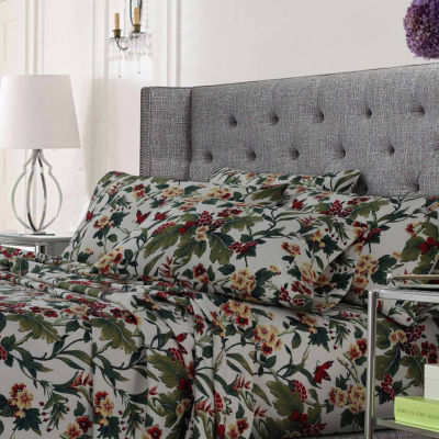 Tropical Garden Printed Ultra-Soft Extra Deep Pocket 4-Piece Sheet Set