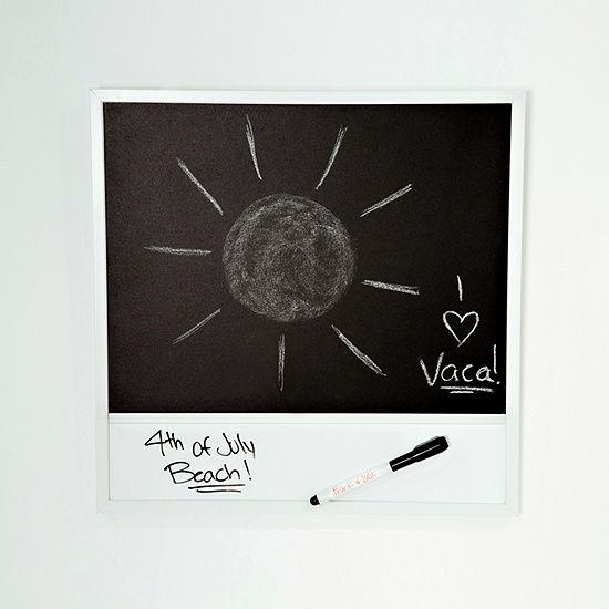 Frank And Lulu Dry Erase And Polaroid Chalk Board