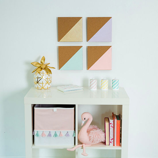 Frank And Lulu Metallic Color 4 Piece Corkboard Message Board