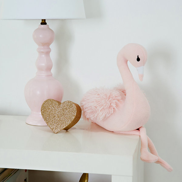 Frank And Lulu Flamingo Plush Weighted Room Decor Book Ends