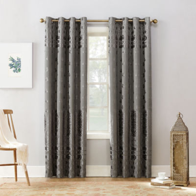 Sun Zero Elidah Blackout Grommet-Top Curtain Panel