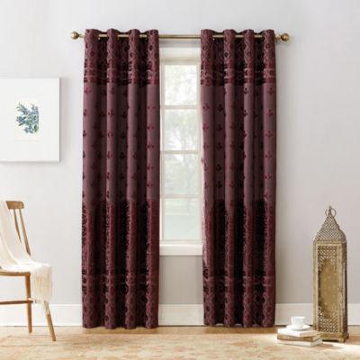 Sun Zero Elidah Blackout Grommet-Top Curtain Panel