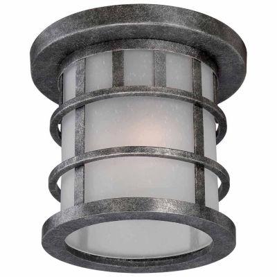Filament Design 1-Light Aged Silver Outdoor FlushMount