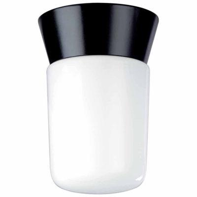 Filament Design 1-Light Black Outdoor Flush Mount