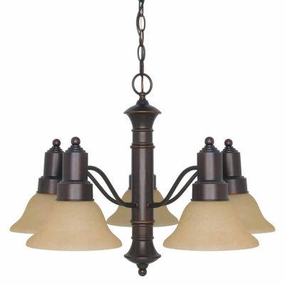 Filament Design 5-Light Mahogany Bronze Chandelier