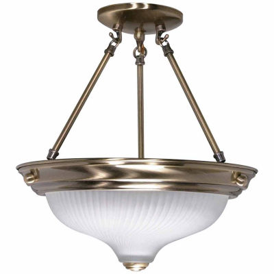Filament Design 2-Light Antique Brass Semi-Flush Mount