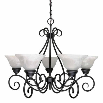 Filament Design 5-Light Textured Black Chandelier
