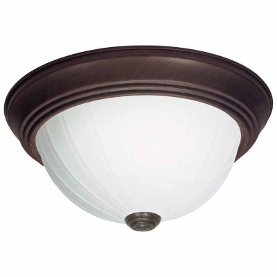Filament Design 2-Light Old Bronze Flush Mount
