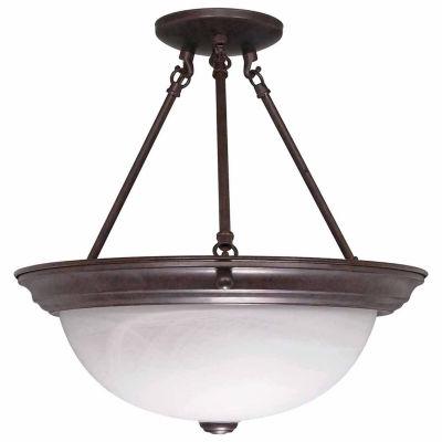 Filament Design 3-Light Old Bronze Semi-Flush Mount