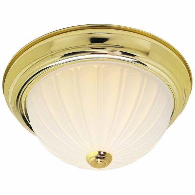 Filament Design 2-Light Polished Brass Flush Mount