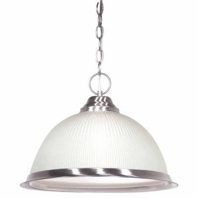 Filament Design 1-Light Brushed Nickel Pendant