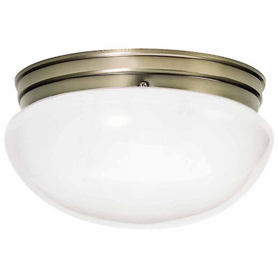 Filament Design 2-Light Antique Brass Flush Mount
