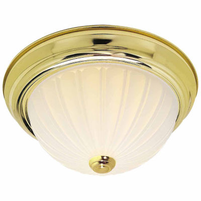 Filament Design 3-Light Polished Brass Flush Mount