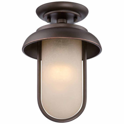 Filament Design 1-Light Mahogany Bronze Outdoor Flush Mount