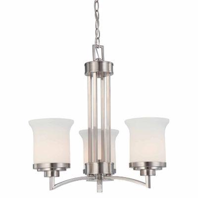 Filament Design 3-Light Brushed Nickel Chandelier