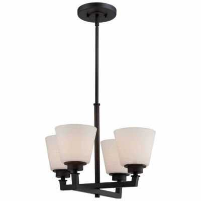 Filament Design 4-Light Aged Bronze Chandelier