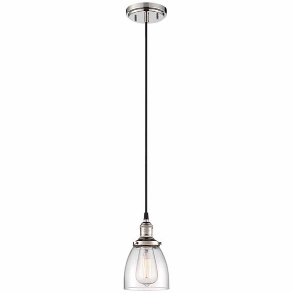 Filament Design 1-Light Polished Nickel Pendant