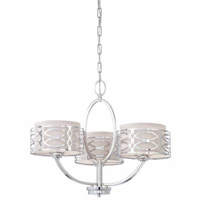 Filament Design 3-Light Polished Nickel Chandelier